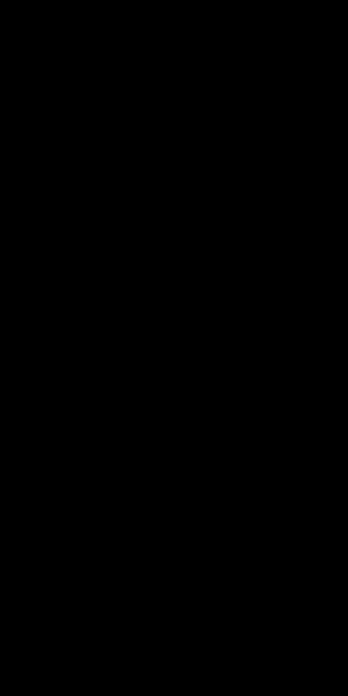 男性が頭上で手を組んで左側に身体の右側面を伸ばしているシルエット画像