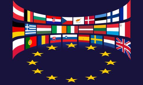 欧州連合28カ国の国旗イラスト