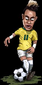 ブラジル代表ネイマールのイラスト画像