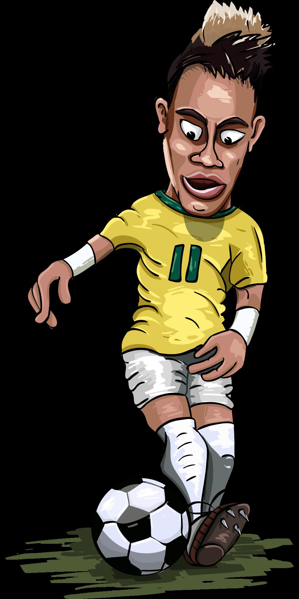 ブラジル代表ネイマールのイラスト
